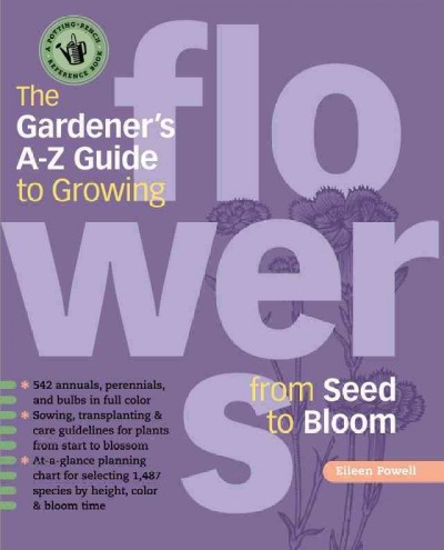 The Gardener's A-Z Guide to Growing Flowers book cover