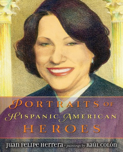 Image of painted portrait of Sonia Sotomayor-book cover