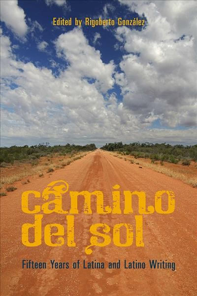 Image of long straight road under big blue sky with clouds-book cover