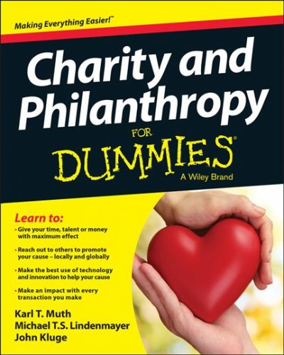 Charity and Philanthropy for Dummies book cover