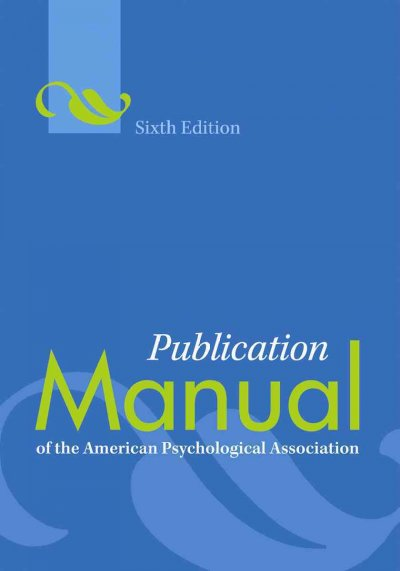 Cover: Publication Manual of the American Psychological Association