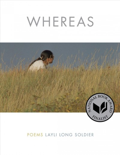 Photo of Native American woman sitting in tall prairie grass under blue sky--book cover image
