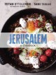 Cover of book Jerusalem: a cookbook, with a round black skillet of eggs and tomatoes sprinkled with herbs