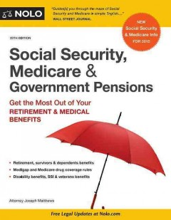 Social Security, Medicare & Government Pensions by NOLO