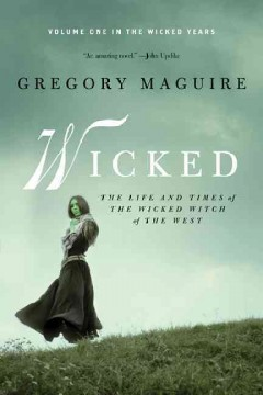 "Book cover for ""Wicked"" novel by Gregory Maguire"